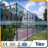 Residential building use Good rigidity Chain link fence top with barbed wire
