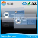 Clear transparent frosted business NFC card