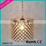 Handcrafted Contemporary Decorative Hanging Crystal Ball Metal Chain Chandelier For Kitchen Room Lighting