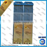 Tungsten Raw Material Of Welding Electrode WL15 Electrode Tips 2.4*175mm Welding Rod Production Line Gold Color
