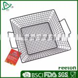 Non-stick food grade vegetable BBQ Grill top wire basket