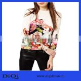 2014 wholesale hand knitted wool design tangled floral print sweater DQ160