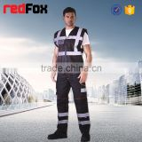 fashion reflective safety 100% polyester cargo pants