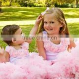 super fluffy white with red blue nylon with satin 2 layers factory direct kids parth birthday pettiskirt tutu