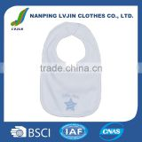 White Baby Bibs Product Type and OEM Service Supply Type blank custom drool bibs