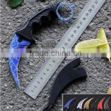Multi Colors CS GO Karambit,Web Claw Karambit Knife,Outdoor Survival Sharp Karambit