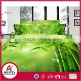 2016 china new style bamboo 13372 40*40s reactive printed 3D bedding sets