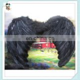 Adult Party Costume Cheap Large Black Feather Angel Wings HPC-0836
