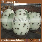 2016 life size realistic FRP dinosaur egg for photo