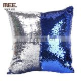 sliver and light blue sequin car inside personalized promotion reversible mermaid pillow