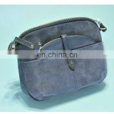 Blue Crossbody Bag with separable Pouch inside