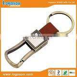 Logoson leather keyring custom leather keychain