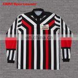 Breathable sublimated custom soccer referee shirt