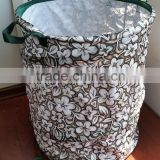 Printed Pop Up PE garden bag/garden lawn and leaf bag