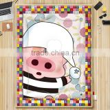 100% cotton high quality duvet / quilt for baby cartoon pig design 3d comforter set