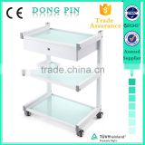 beauty salon spa equipment glass shelf trolley medical massage trolley wholesale