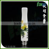 Wax-t glass globe 510 wax atomizer ceramic type3# chrysanthemum drip tips