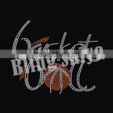 Hotfix crystal basketball motif rhinestone transfer for sport team's jersey