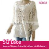 Lace manufacturer high quality cotton fabric lace blouse
