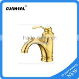 Wash Basin Mixer Tap Gold-plated Bathroom Faucet Golden Bathroom Faucet