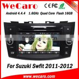 Wecaro WC-SS7669 Android 4.4.4 car dvd player quad core touch screen car radio gps for suzuki swift WIFI 3G A9 cpu 2011 2012