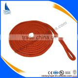 Orange color 3/8'' 1/2'' 5/8'' double braided nylon polyester dock line mooring rope cord