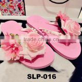 New design Hawaii style flat slipper EVA slipper summer beach slipper for women