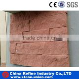 natural red sandstone wall stone