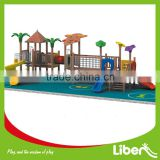 Outdoor Wooden Playground Bridge Swingsets and Playsets with Plastic Slide