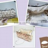 2013 fashion cheap satin ladies small handbags with metal chain