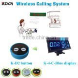 wireless service call button pager for waiter service client with factory price and popular in restaurant
