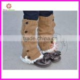 New style baby crochet lace leg warmer boot socks and cuffs with buttons