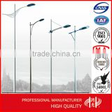 Single Arm Street Steel Lighting Pole , Road lamp Post with Galvanization and Powder Coated
