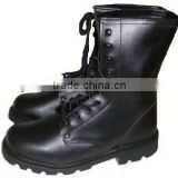 Full-grain cow leather military safety boots