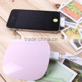 Cute Shell Li polymer 4000mAh 2 USB output External battery pack Portable Mobile phone battery Power Bank charger