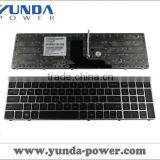 New Arrival Laptop Replacement Keyboard for HP 8560P SILVER FRAME BLACK(With Point stick)