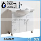 2015 Hangzhou Factory New Product 900mm Floor Standing White Highlight Bathroom Wash Cabinet With legs