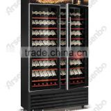humidity control wine cooler/Hign quality 250 bottles fan & direct cooling wine refrigerator
