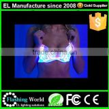 hot sexy girls Alibaba china padded EL wire light up new bra panti photo
