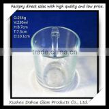 8oz plain glass cup with handle classic cup                                                                         Quality Choice