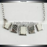 Christmas Gift Light Short Chain Ceramic Crystal Statement Necklace