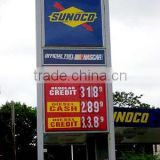 UV Flatbed Print Custom Full Colour High Quality Gas Price Sign
