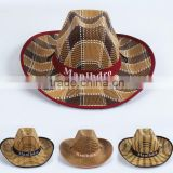 wholesale cowboy paper cloth straw fedora hat