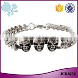 Kindy jewelry JCB0236 vintage punk style stainless steel north skull bracelet for men                                                                                                         Supplier's Choice