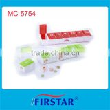 PP material diversified designs 7 day pill box