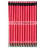 Wood Free Bright Pink Fluorescent paint HB Plastic Pencil with Eraser Topper