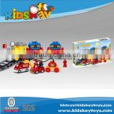 2016 games children's electric trains building blocks toy City fire plastic building blocks