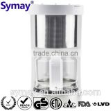 Semi-auto Coffee Machine with SS Decoration 1.25L 10 Cups Glass Carafe Kitchen Accessory Filter