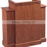 With wood church wing pulpit, Light Oak Stain,Ash wood walnut church front carved PulPit with shelf / Ash church furniture