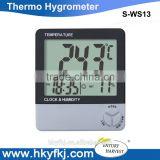 Digital LCD Temperature and Humidity Meter Thermometer Hygrometer With Clock Alarm (S-WS13)